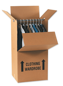 Wardrobe Boxes - types of moving boxes for hose removals